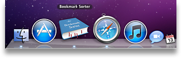 Bookmark Sorter in the Dock